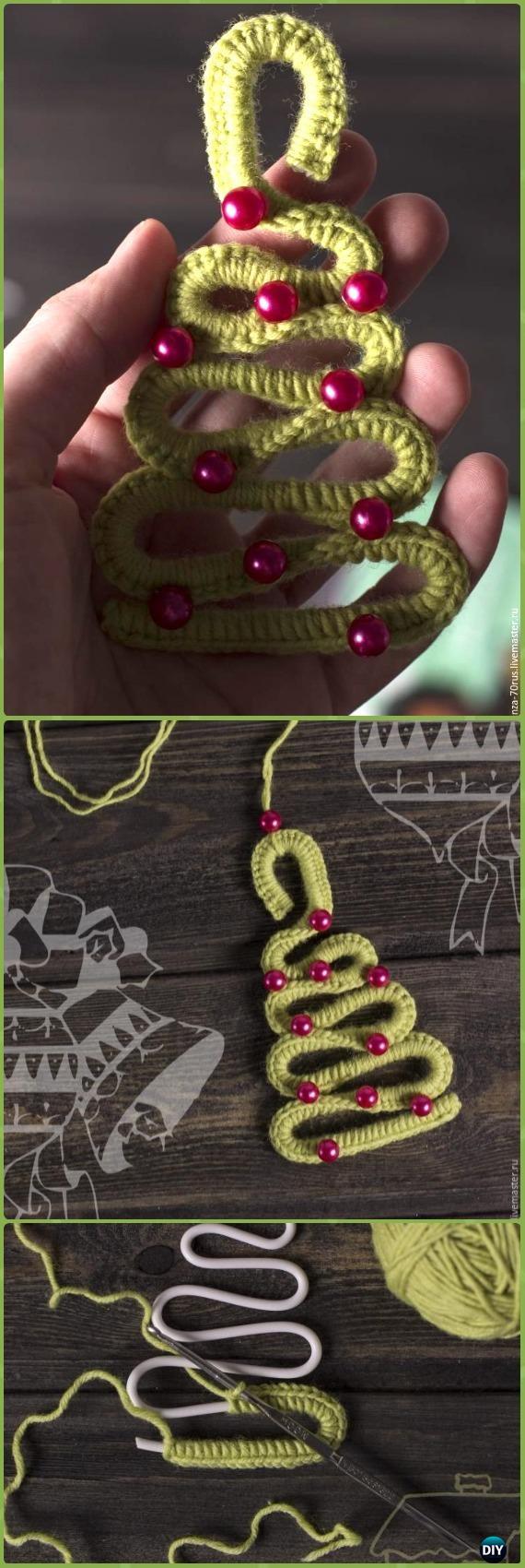 Easy Crochet Wire Christmas tree Free Pattern - Crochet Christmas Tree Free Patterns