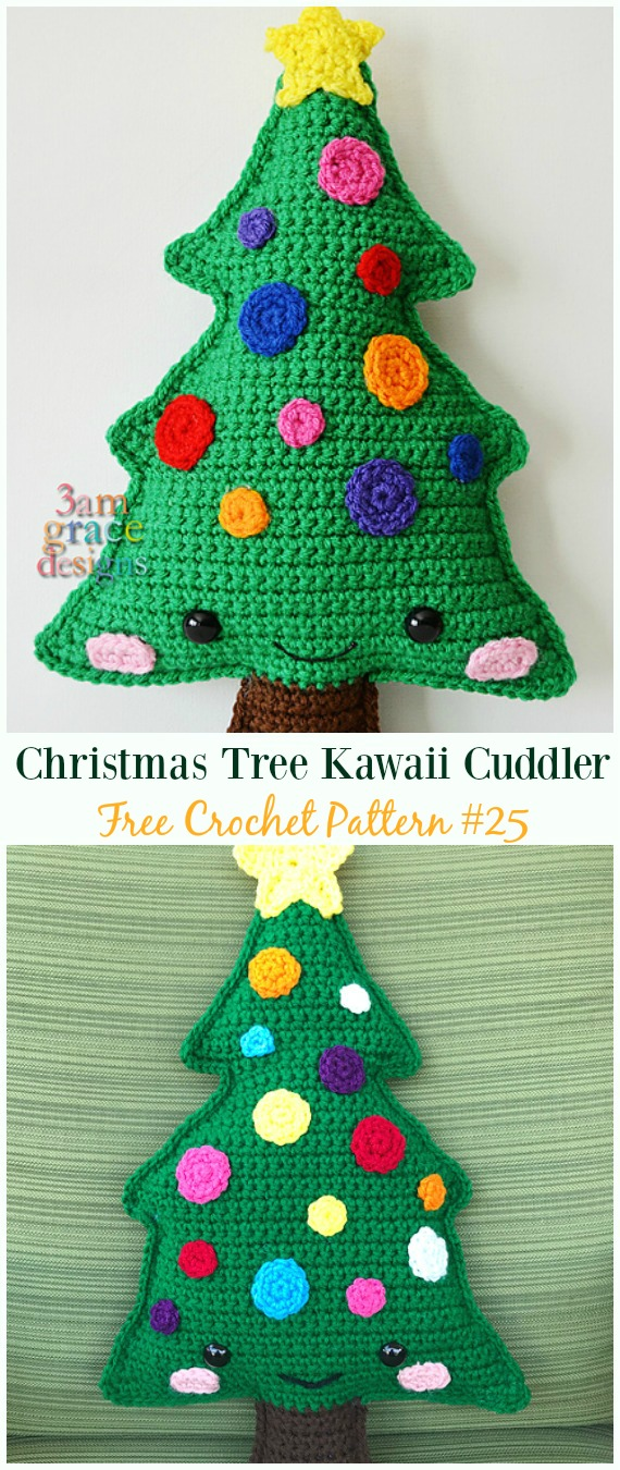 Christmas Tree Kawaii Cuddler Crochet Free Pattern - #Crochet; #Christmas Tree Free Patterns