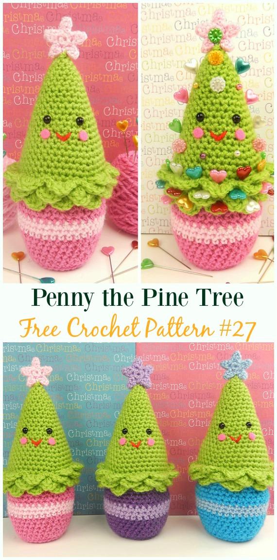 Penny the Pine Tree Amigurumi Crochet Free Pattern - #Crochet; #Christmas Tree Free Patterns