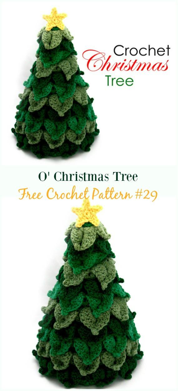 O' Christmas Tree Crochet Free Pattern - #Crochet; #Christmas Tree Free Patterns