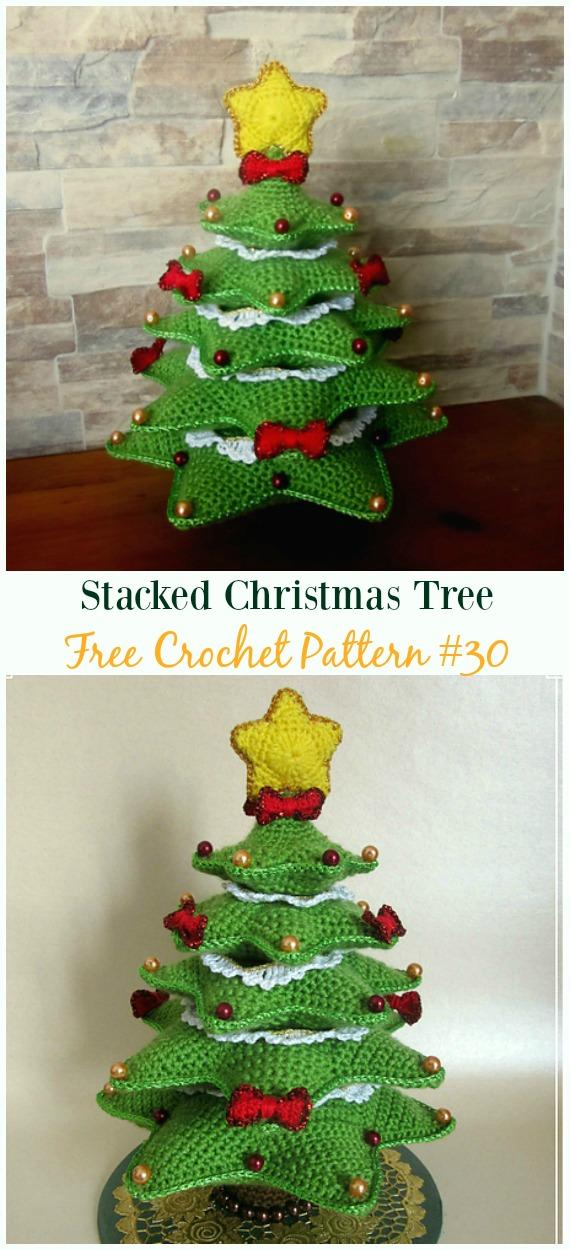 Stacked Christmas Tree Crochet Free Pattern - #Crochet; #Christmas Tree Free Patterns