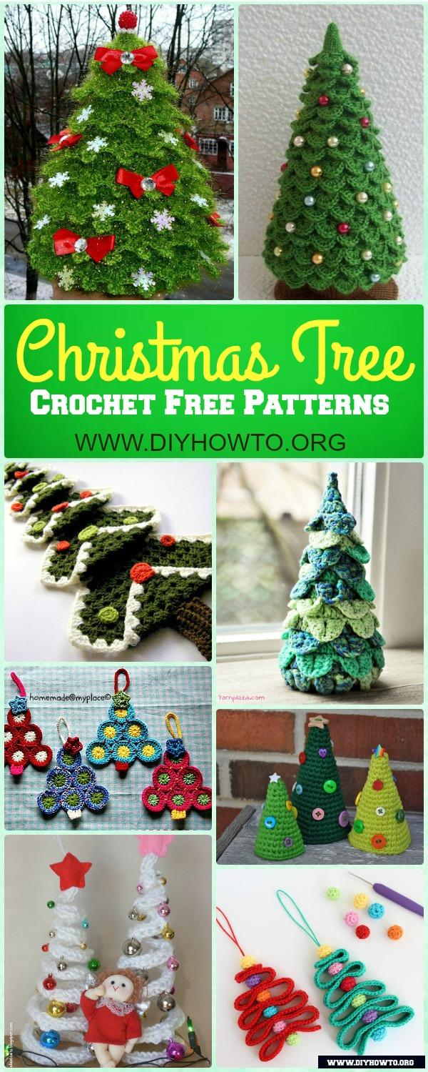 wonderful collection of mini crochet christmas tree free patterns for holiday decoration