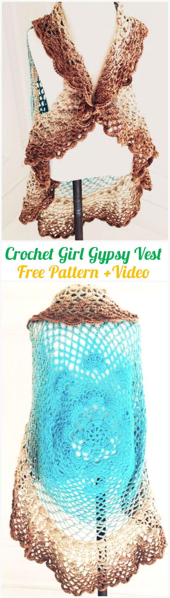 Diy Crochet Circular Vest Sweater Jacket Free Patterns
