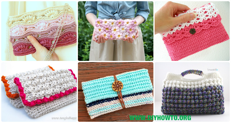 Crochet Clutch Bag Amp Purse Free Patterns Instructions