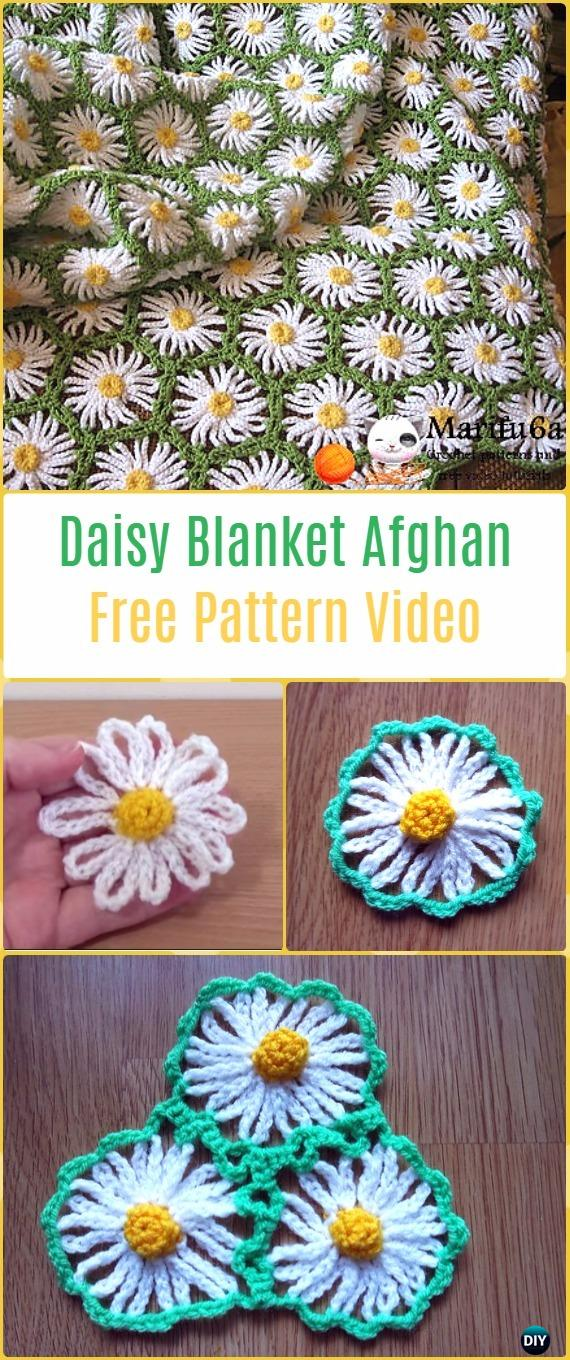 Crochet Daisy Flower Blanket Free Patterns Amp Instructions
