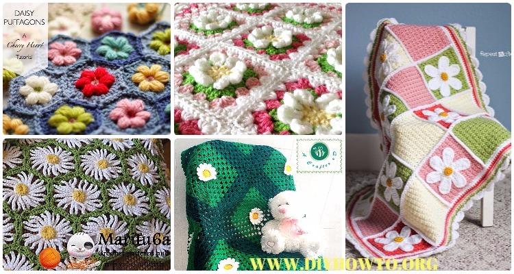 Crochet Daisy Flower Blanket Free Patterns Instructions