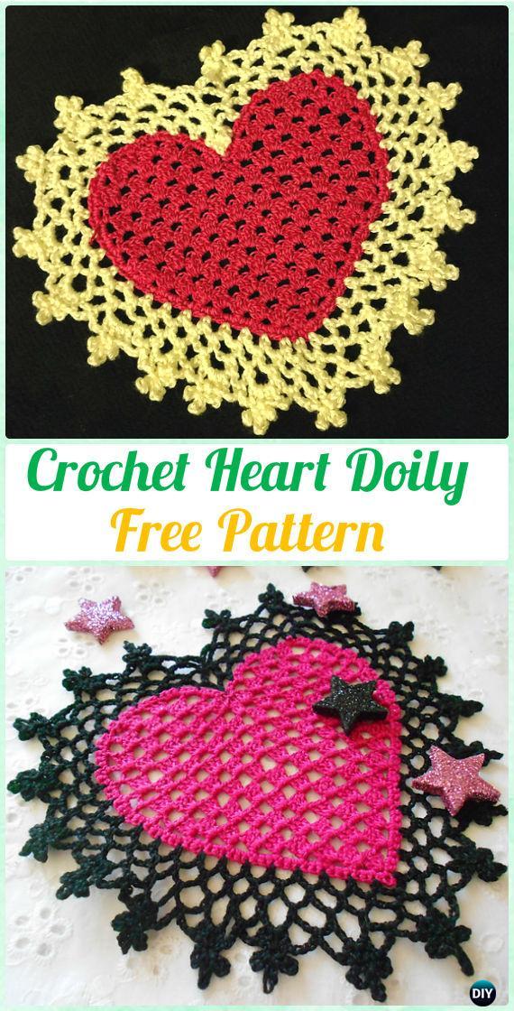Crochet Heart Doily Free Pattern - Crochet Doily Free Patterns