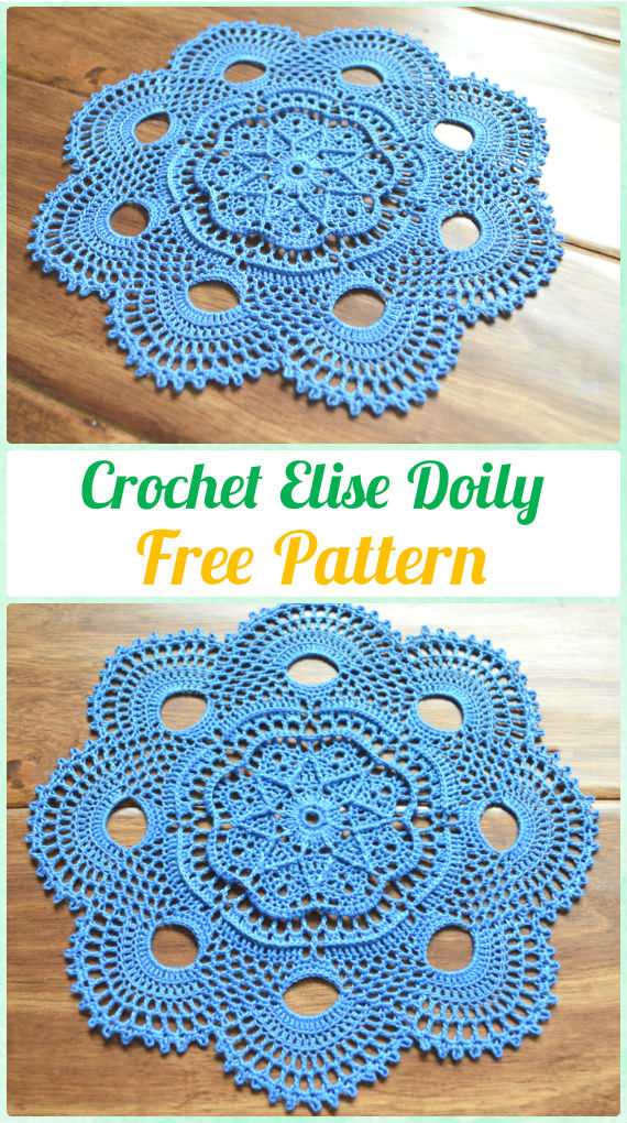 Crochet Elise Doily Free Pattern - Crochet Doily Free Patterns