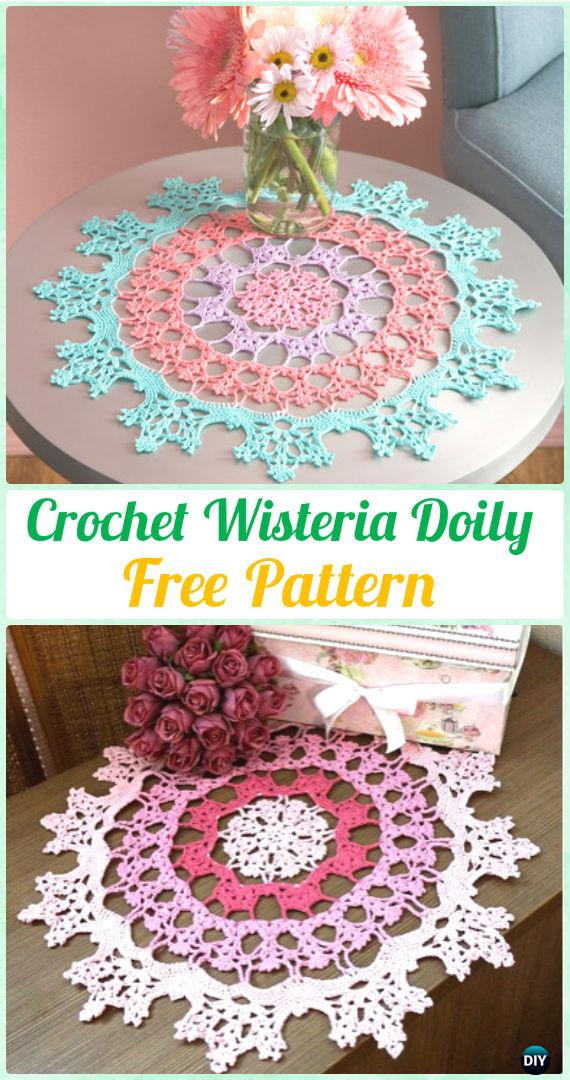 Crochet Wisteria Doily Free Pattern - Crochet Doily Free Patterns