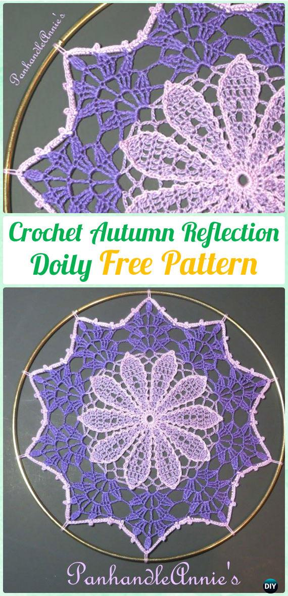 Crochet Autumn Reflection Doily Free Pattern - Crochet Doily Free Patterns