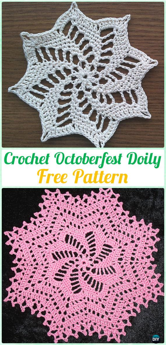 Crochet Octoberfest Doily Free Pattern - Crochet Doily Free Patterns