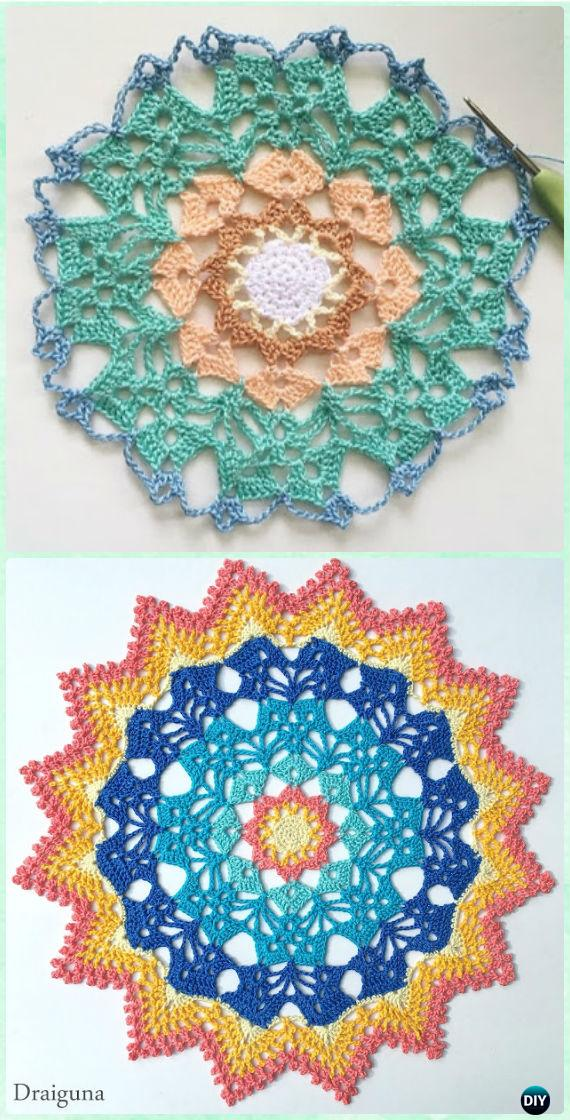 Crochet Solar Brilliance Doily Free Pattern - Crochet Doily Free Patterns