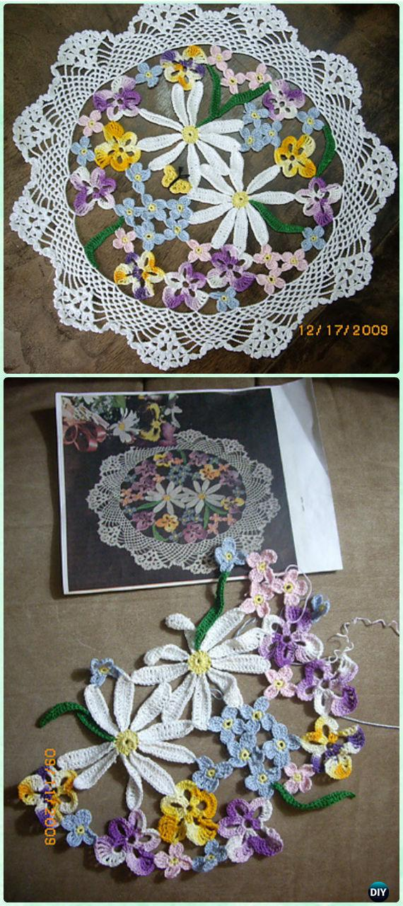 Crochet Flower Bouquet Doily Free Pattern - Crochet Doily Free Patterns