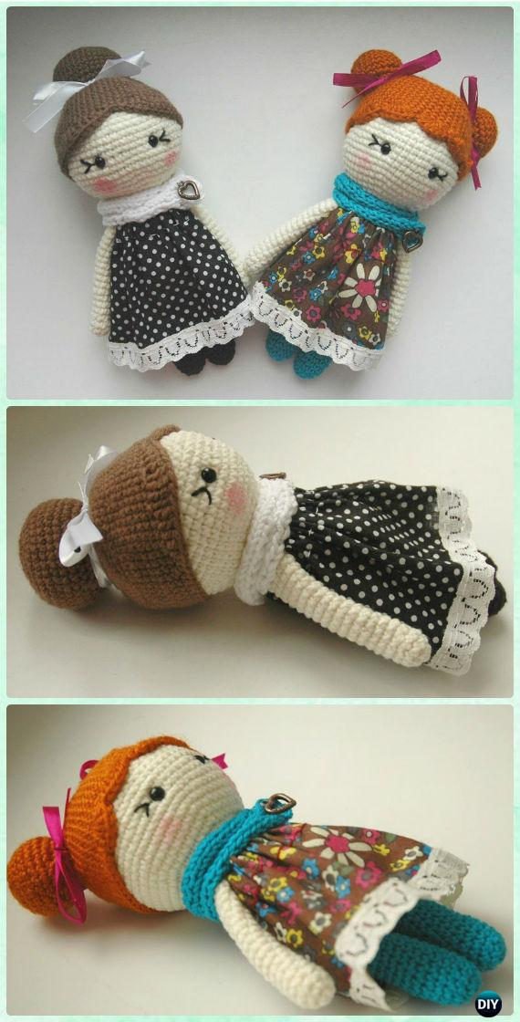 Crochet Amigurumi Little Lady Doll Free Pattern - Crochet Doll Toys Free Patterns