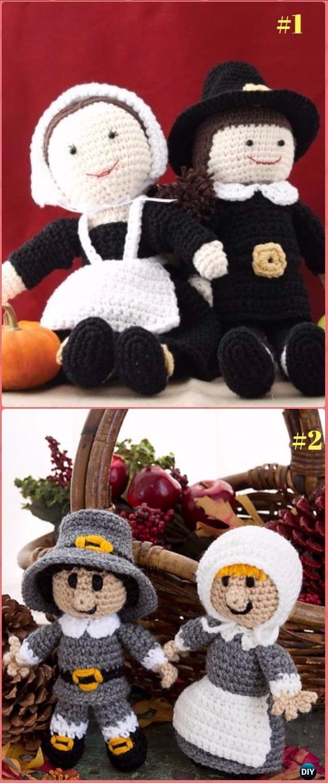 Crochet Pilgrim Doll Free Pattern - Crochet Doll Toys Free Patterns