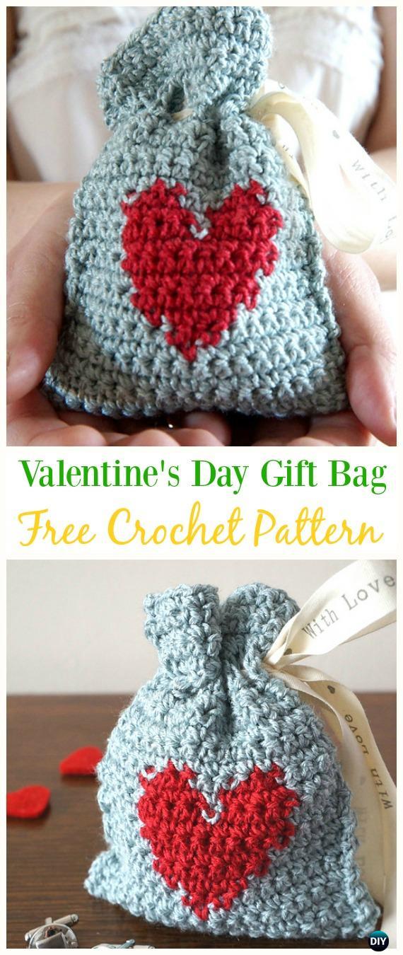 Crochet Drawstring Bags Free Patterns Diy Tutorials