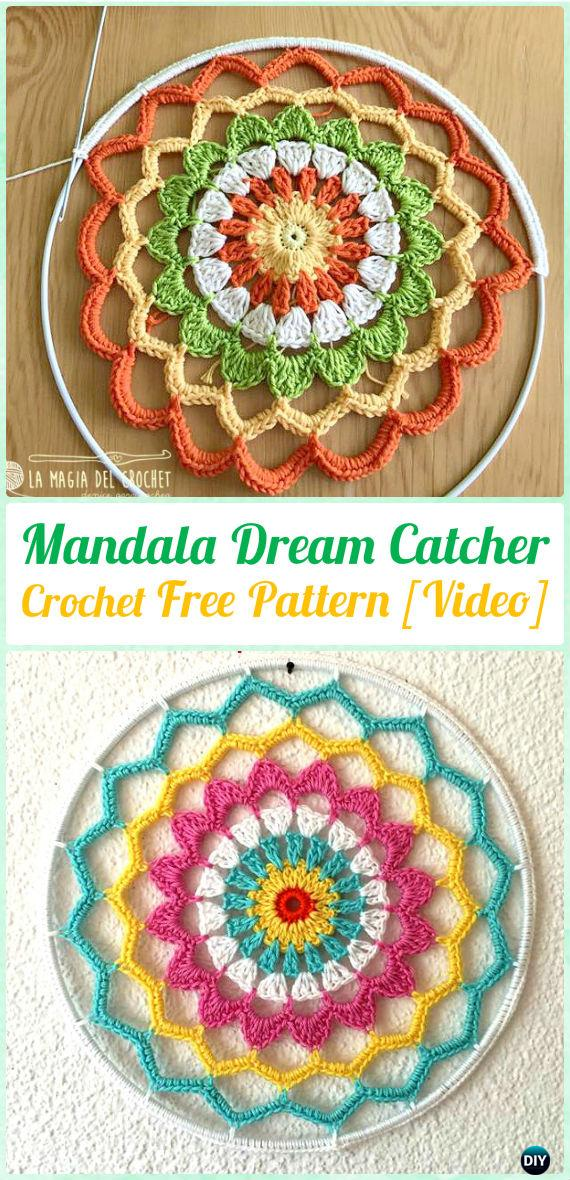 Crochet Mandala DreamCatcher Free Patterns - Crochet Dream Catcher Free Patterns