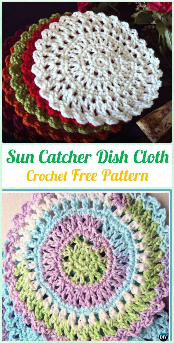 Crochet Sun Catcher Dish Cloth Free Patterns - Crochet Dream Catcher Free Patterns