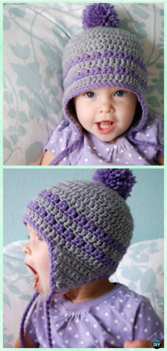 DIY Crochet EarFlap Hat Free Patterns [Picture Instructions]