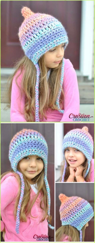 DIY Crochet EarFlap Hat Free Patterns [Picture Instructions]