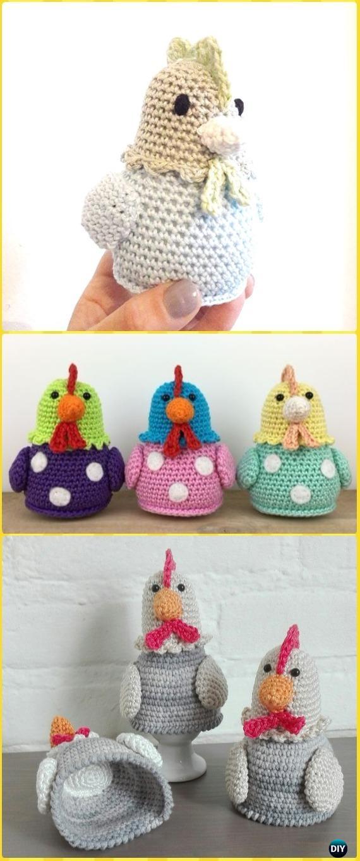 Amigurumi Crochet Kipje Chicken Kitty Free Pattern -Crochet Easter Chicken Free Patterns