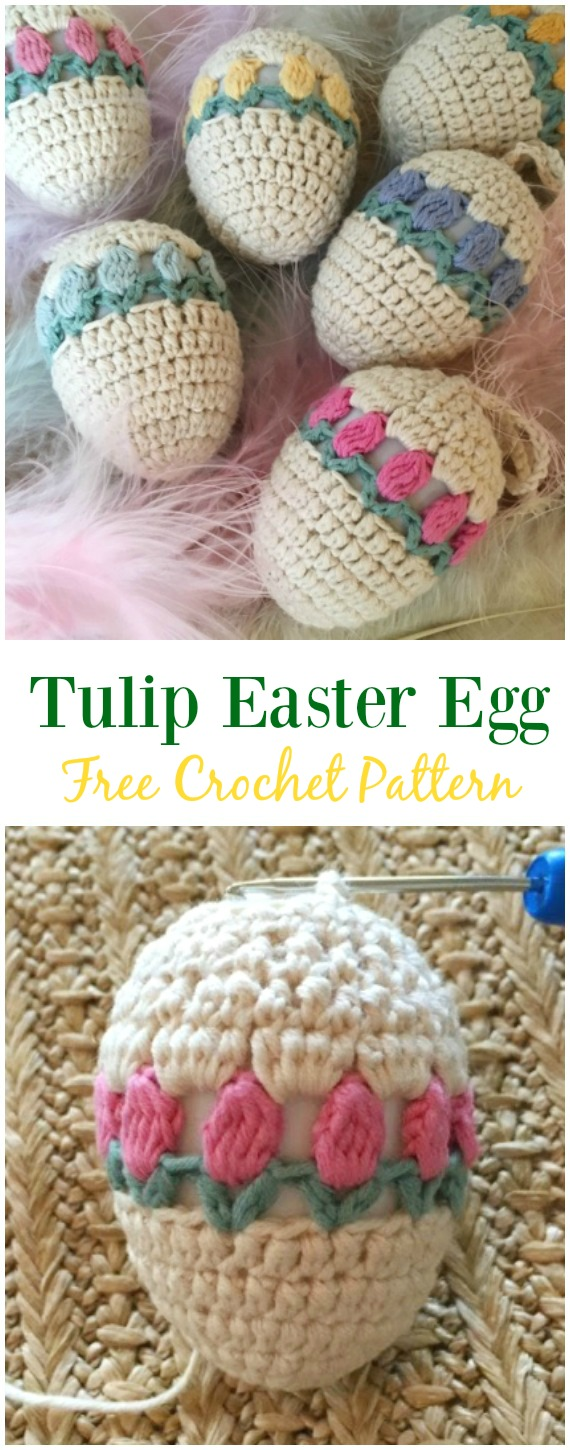 Crochet Easter Egg Cozy Cover & Holder Free Patterns