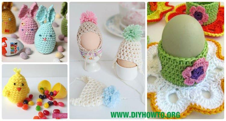 Google Easter Eggs List >> Crochet Easter Egg Cozy Cover & Holder Free Patterns