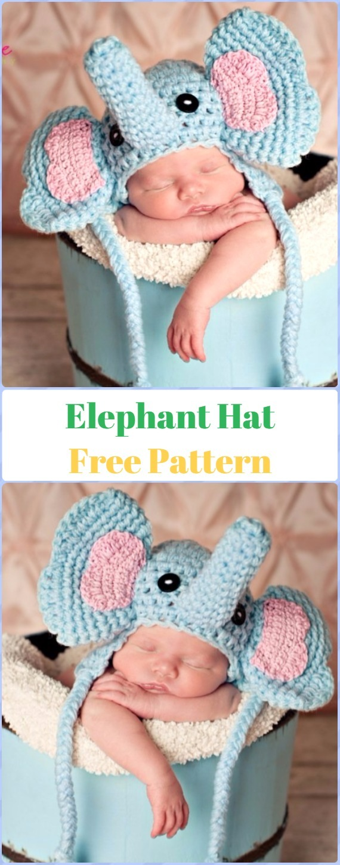 Crochet Elephant HatFree Pattern - Crochet Elephant Free Pattern