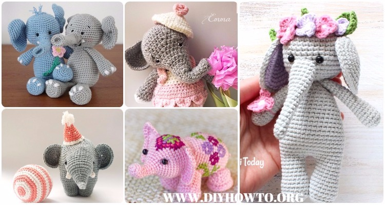 Amigurumi Elephant Pattern : Crochet elephant softie and more free patterns tutorials
