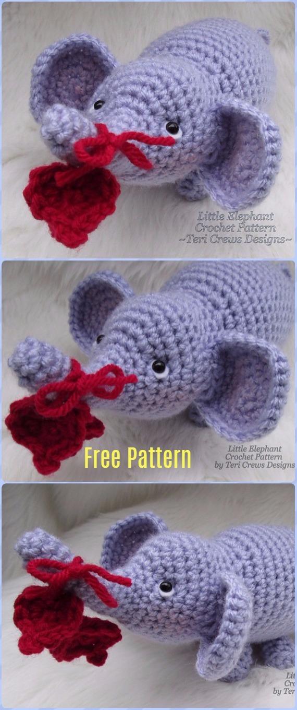 Crochet Amigurumi Little ElephantFree Pattern - Crochet Elephant Free Patterns