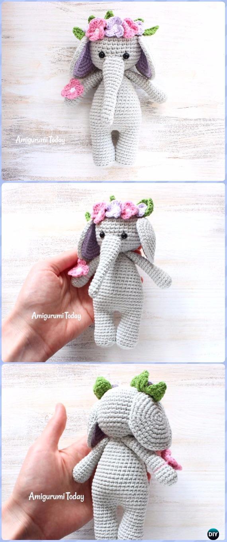 Crochet Cuddle Me Elephant Amigurumi Free Pattern - Crochet Elephant Free Patterns