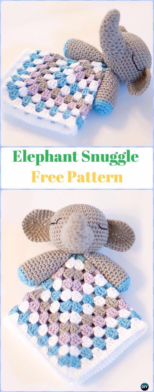 Crochet Elephant SnuggleFree Pattern - Crochet Elephant Free Patterns