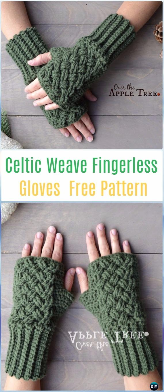 Crochet Celtic Weave Fingerless Gloves Free Pattern Crochet Arm