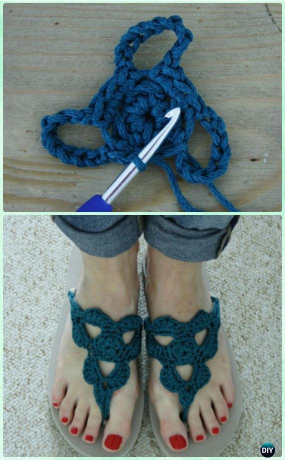 7e41d817da98d Crochet Loopy Flip Flops Free Pattern - Crochet Flip Flop Footwear Makeover  Free Patterns