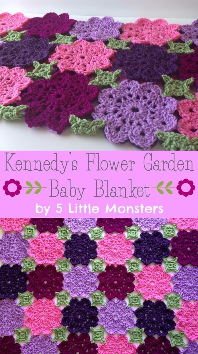 Crochet Flower Garden Blanket Free Pattern - Crochet Flower Blanket Free Patterns