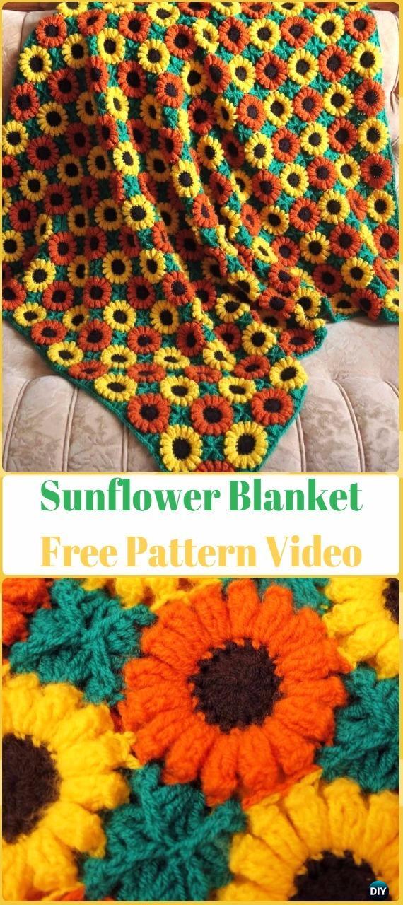 Crochet Flower Blanket Free Pattern Round Up