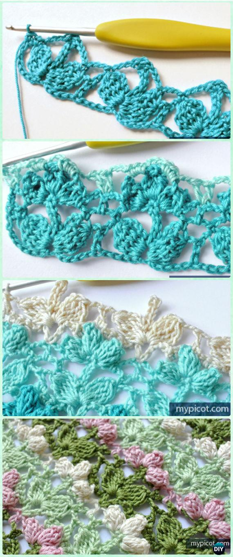 Crochet Popcorn Flower Stitch Free Pattern - Crochet Flower Stitch Free Patterns