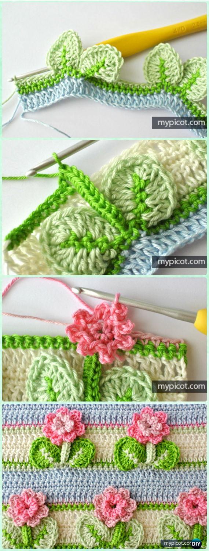 Inline Crochet Flower Stitch Free Patterns