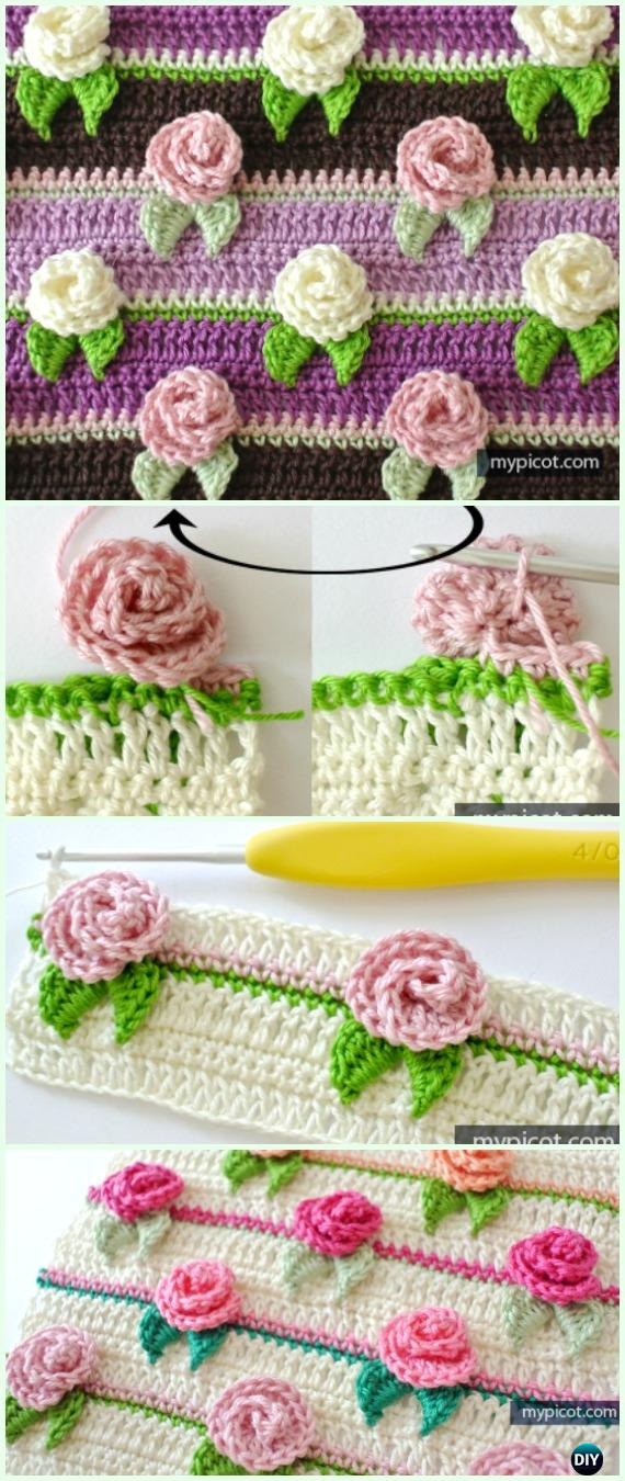 CrochetRosebudStitchFree Pattern - Crochet Flower Stitch Free Patterns