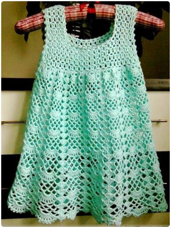 Beautiful Lace Dress Crochet Free Pattern - #Crochet Girls #Dress Free Patterns