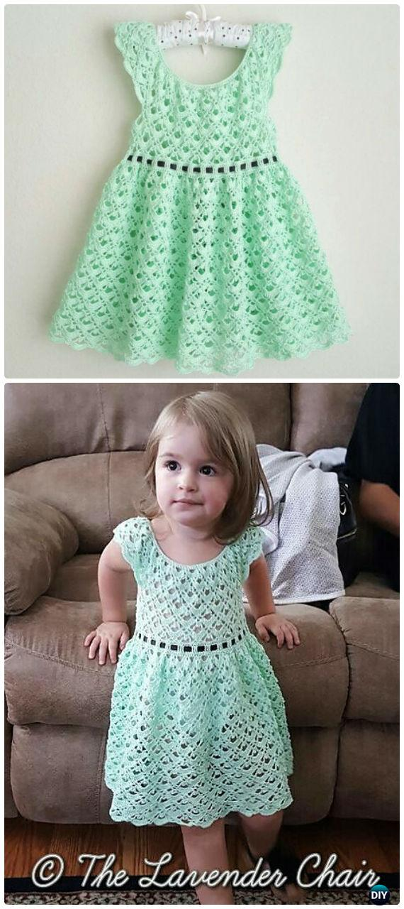 Gemstone Lace Toddler Dress  Crochet Free Pattern - #Crochet Girls #Dress Free Patterns