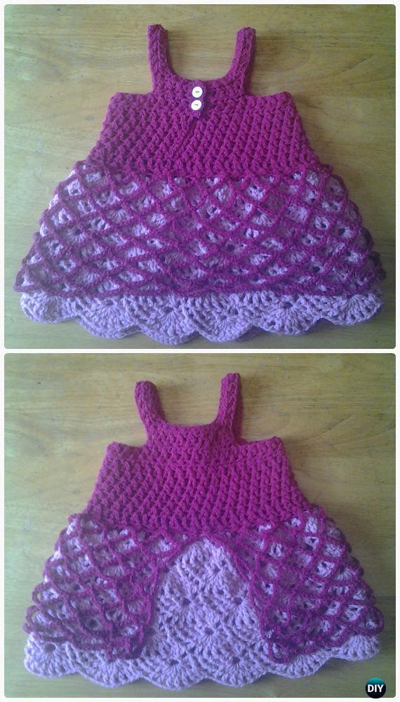 Fairy Tale Rosy Summer Dress Crochet FreePattern - #Crochet Girls #Dress Free Patterns