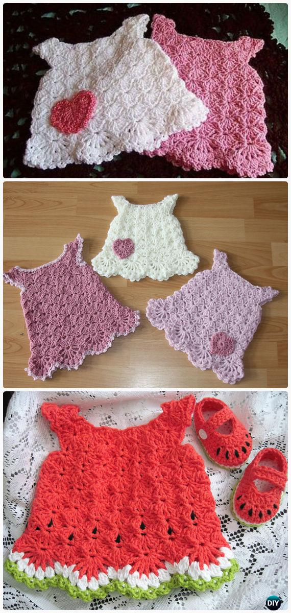 Little White Dress Crochet FreePattern - #Crochet Girls #Dress Free Patterns