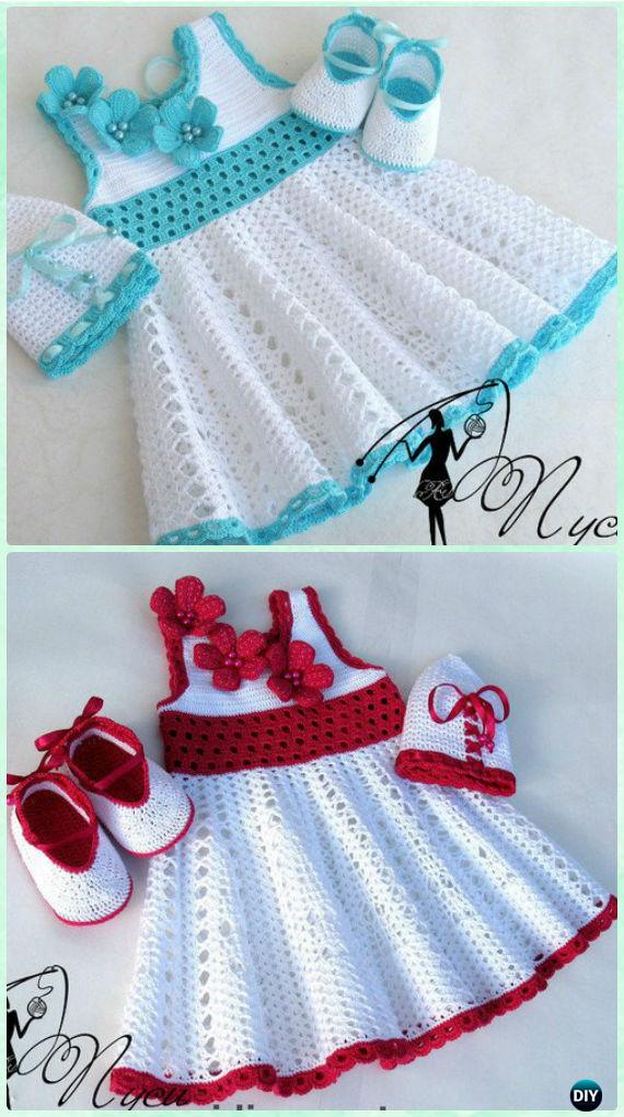 Crochet Pusey Lace Dress Free Pattern Crochet Girls Dress Free
