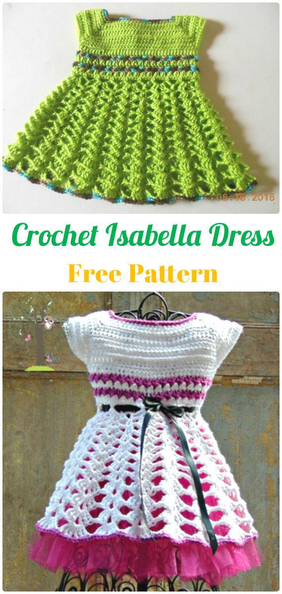Crochet Isabella Dress Free Pattern - Crochet Girls Dress Free Patterns