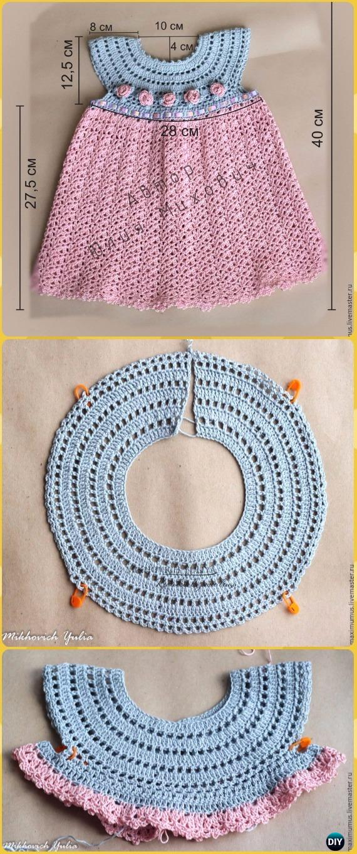 Crochet Girl Dress Rosa Free Pattern - Crochet Girls Dress Free Patterns
