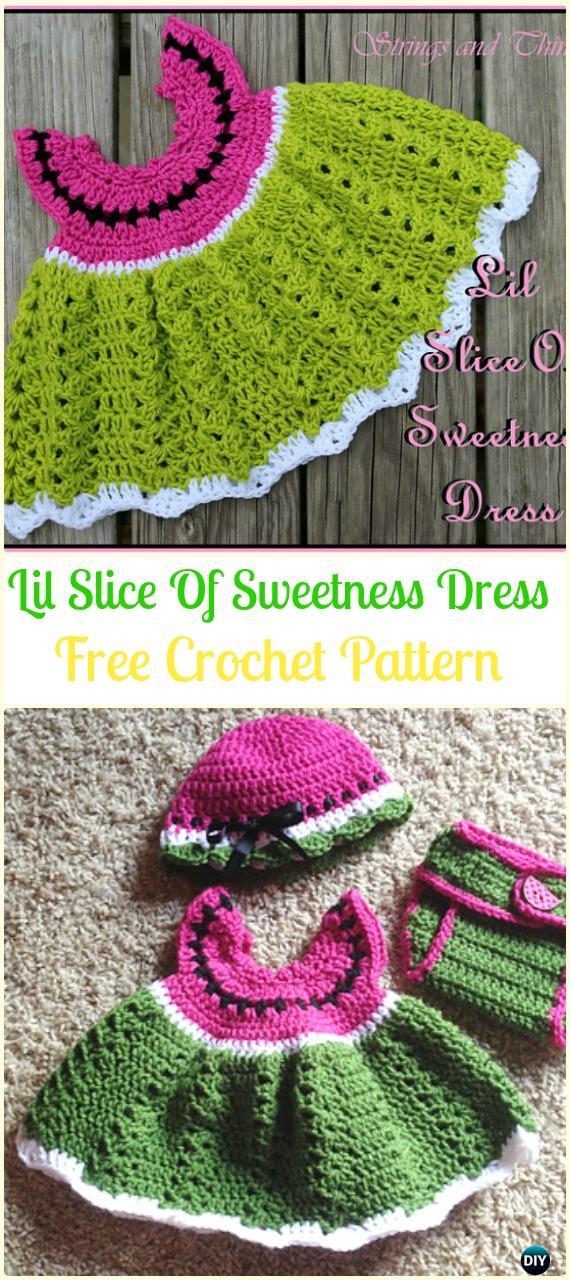 CrochetLil Slice Of Sweetness DressFreePattern- Crochet Girls Dress Free Patterns