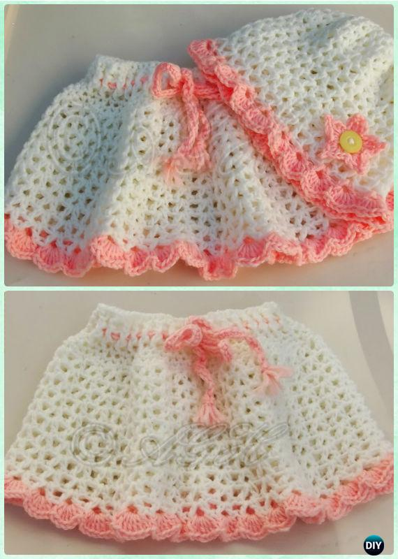 Crochet Hailey Hat Skirt Set Free Pattern - Crochet Girls Skirt Free Patterns