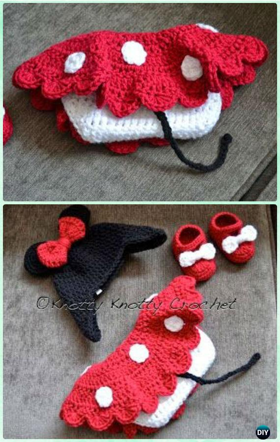 Crochet Minnie Mouse Hat Skirt Set Free Pattern - Crochet Girls Skirt Free Patterns