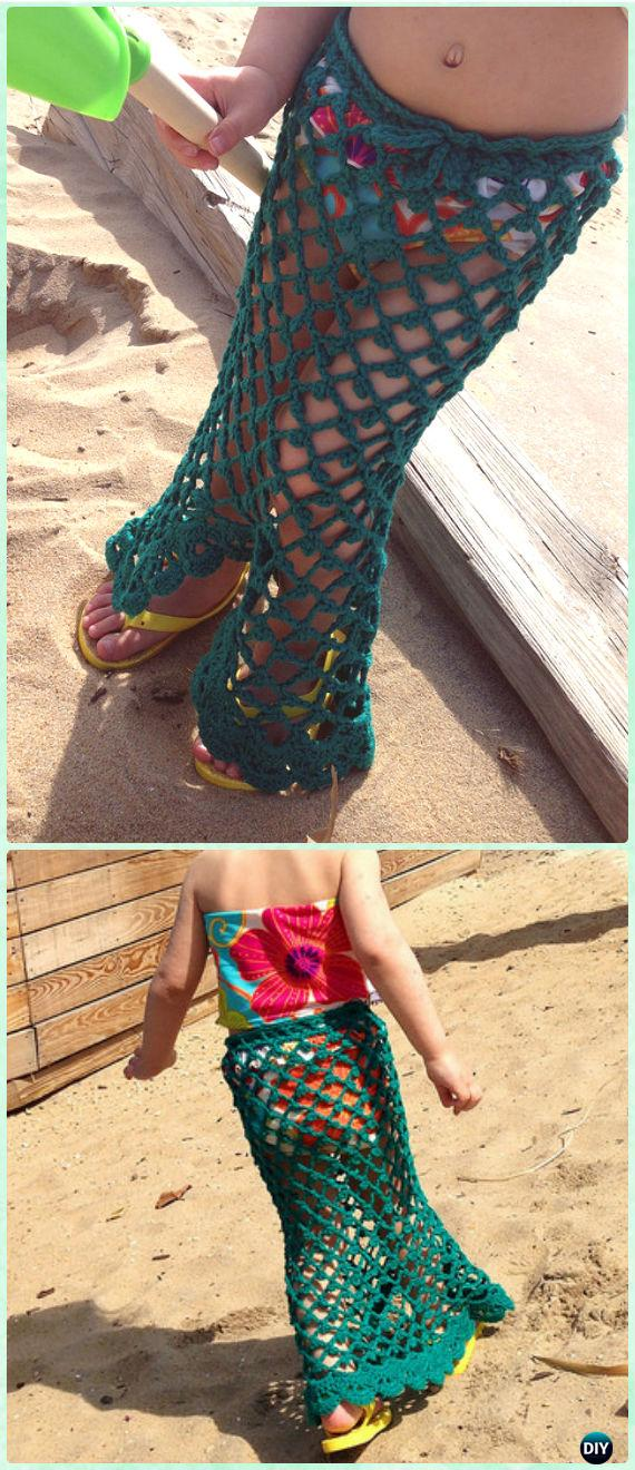 Crochet Little Mermaid Skirt Free Pattern - Crochet Girls Skirt Free Patterns